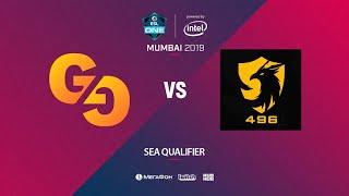 Genuine Gaming vs 496 Gaming, ESL One Mumbai SEA Quals, bo3, game 1 [Lex & 4ce]