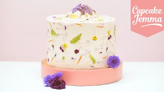GROWWILD! How to use Real Edible Flowers to Decorate your Cakes | Cupcake Jemma by Cupcake Jemma