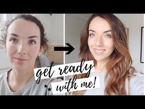Hairdresser - GET READY WITH ME  SIMPLE EVERY DAY HAIR AND MAKE UP UK 2018