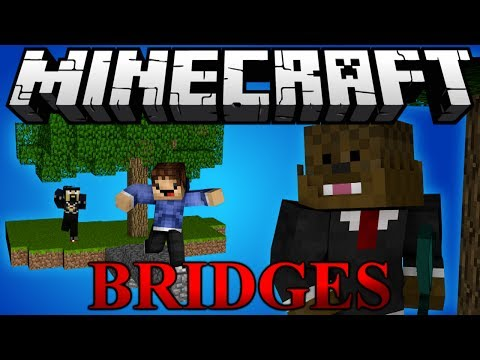 Minecraft Bridges COMMANDERS PVP Minigame w/ Antvenom and Woofless
