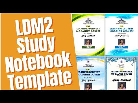 LDM2 STUDY NOTEBOOK LAYOUT TEMPLATE