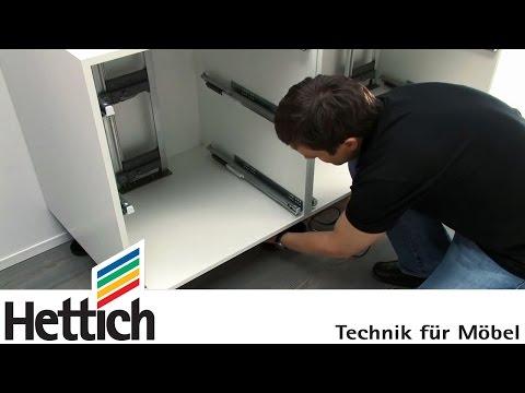 Easys: montaje interior del cajón, de Hettich
