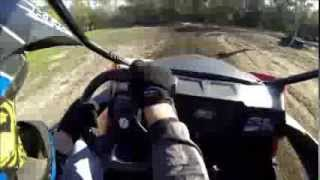 6. 2014 Arctic Cat Wildcat Trail in Action at UTV Track and Awesome View of Suspension at work
