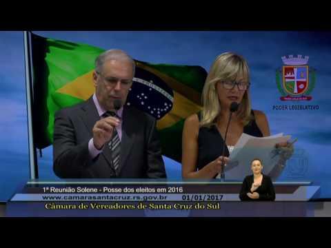 Solenidade de posse dos vereadores, prefeito e vice-prefeita, eleitos em 2016 - 01/01/2017
