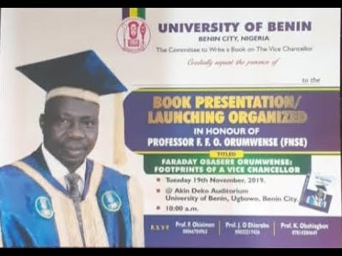 Live Event: Book presentation and launching in honour of the Vice-Chancellor of the University