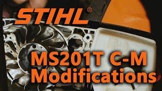 5. Stihl MS201T C-M Muffler and Timing Modification