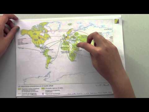 Las migraciones en el mundo actual, análisis de un mapa