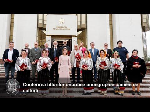 Президент Майя Санду: «У Республики Молдова талантливые и плодотворные артисты, настоящие послы наших ценностей и традиций»