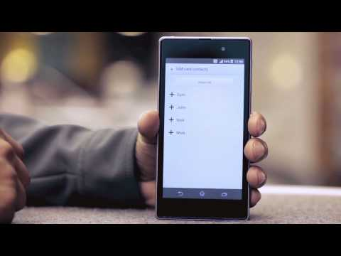 how to link contacts to facebook on xperia s