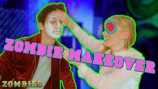 Zombie Makeover Challenge 👄 | ZOMBIES | Disney Channel