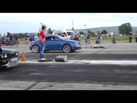 audi tt quattro vs. bmw e30 3.2 turbo: drag race
