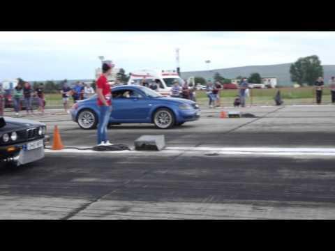audi tt quattro vs. bmw e30 3.2 turbo: drag race
