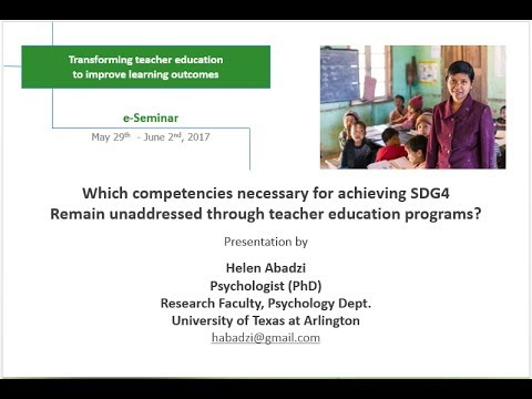 Helen Abadzi - e-Seminar - Transforming Teacher Education