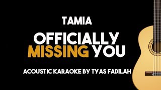 Video Tamia - Officially Missing You (Acoustic Guitar Karaoke Backing Track with Lyrics) MP3, 3GP, MP4, WEBM, AVI, FLV Maret 2018