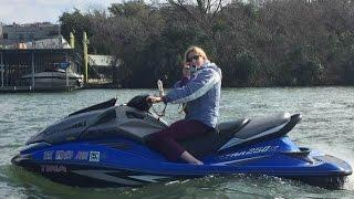 10. Martina Having Fun on Lake Austin Texas Kawasaki JETSKI Ultra 250X, 310LX