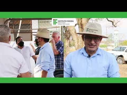 Visita do Reitor do IFMT ao Câmpus São Vicente (03/09/21)