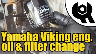 9. #1814 - Yamaha Viking - engine oil & filter change