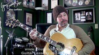 Need You Now - Lady Antebellum -  Lefty Beginner Acoustic Guitar Lesson
