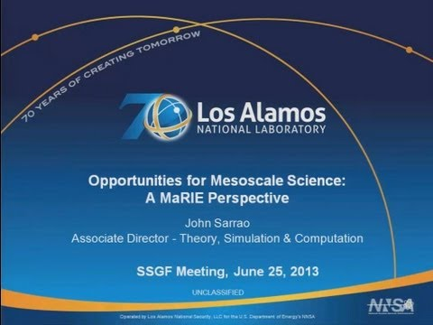DOE NNSA SSGF 2013: Opportunities for Mesoscale Science: A MaRIE Perspective