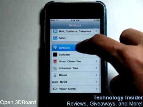 comment installer gyroscope iphone 3gs