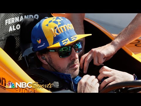 Fernando Alonso wrecks during second day of practice | Indy 500 | Motorsports on NBC