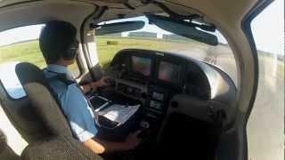 GoPro HD Hero 2 - Cirrus SR20-G2 - Aerosim Flight Academy - KSFB - N477DA - First Solo
