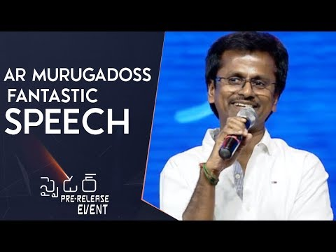 Director A R Murugadoss Fantastic Speech @ Spyder Pre Release Event | Mahesh Babu | Rakul Preet