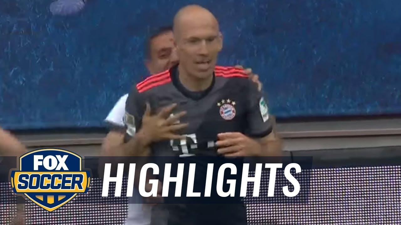 Arjen Robben scores winning goal for Bayern Munich | 2016-17 Bundesliga Highlights