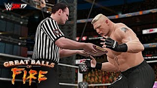 WWE 2K17 - Great Balls Of Fire 2017 Things that could happen!WWE returns to pay-per-view (PPV) -- if your cable provider is carrying the event, of course -- tomorrow night (Sun., July 9, 2017) live from the American Airlines Center in Dallas, Texas with its Great Balls of Fire event starting at 7:00 p.m. ET with the Kickoff show leading right on into the main course at 8 p.m. ET on the WWE Network.Set for the card: Brock Lesnar putting the Universal title on the line against Samoa Joe, an Ambulance match, and more!Thank you so much for watching the video! If you could leave a like if you enjoyed that would be awesome, your support Motivates me ........! Also if you have not done already make sure to subscribe and turn on notifications so you never miss a video when i post! Thanks once again :)HAVE A GREAT DAY TO ALLL........... KEEP SMILINGkeep Supporting...... keep Loving.....For More on WWE 2K17 and WWE Games Visit http://www.thesmackdownhotel.com/ Suggest me some cool ideas for my upcoming WWE 2K17 Videos.....in the Comment Section Below!Follow me on Twitter : https://Twitter.com/MrCreeperHDYTPlatform : XBOX ONECapture Card : Elgato HD60Game : WWE 2K17Production Music courtesy of Epidemic Sound: http://www.epidemicsound.comRoyalty Free Music by http://audiomicro.com/royalty-free-music