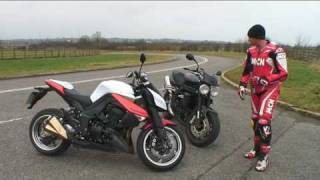 10. 2010 Kawasaki Z1000 vs Triumph Speed Triple review