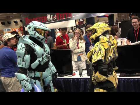 Two Spartans Find Love at San Diego Comic Con 2011 видео
