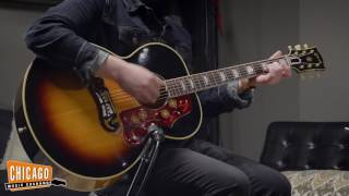 Karl introduces us to our latest acquisition: a phenomenally preserved 1956 Gibson J-200 in Sunburst.  Our jaws collectively dropped when this beauty walked through the doors.  All original parts, no repairs, immaculate condition.  Take a listen and see for yourself!Gear Used:Gibson J-200 Sunburst 1956 (https://goo.gl/M674jJ)Earthworks SR25 Cardioid Small Diaphragm Condenser High Definition Microphone (https://goo.gl/9gRDEU)