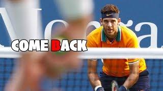 テニスあの男が帰ってくる…!練習再開したデルポトロのスーパープレイが早く見たい!!神業JuanMartíndelPotroBestPoints2018