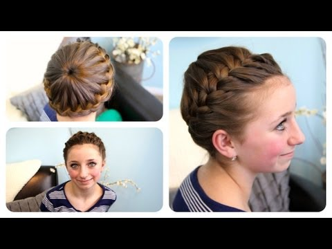Starburst Crown Braid | Updo Hairstyles | Cute Girls Hairstyles