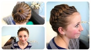 Starburst Crown Braid | Updo Hairstyles | Cute Girls Hairstyles - YouTube