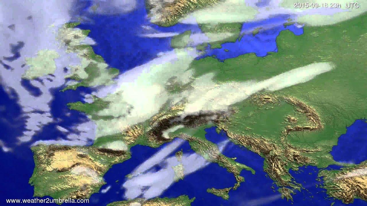 Cloud forecast Europe 2015-09-15