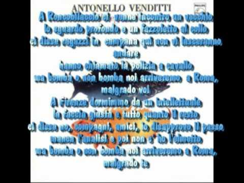 , title : 'Antonello Venditti - Bomba non bomba con testo'
