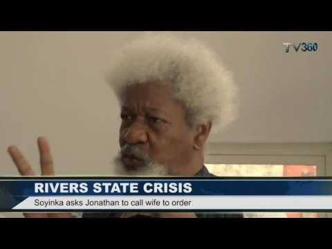 Video:Soyinka Blasts Nigeria's First Lady Over Rivers Crisis