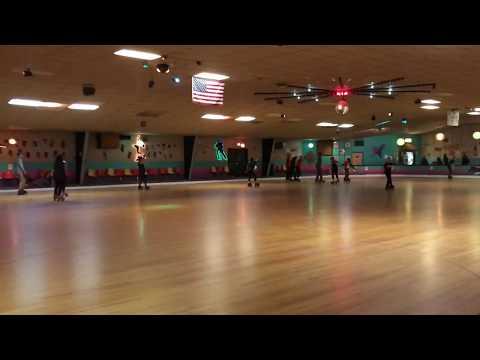 Skating backwards