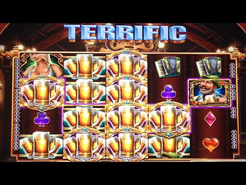 HUGE HANDPAY! Bier Haus Slot Mega Win Bonus 55+ Spins ~ 1000x Pay