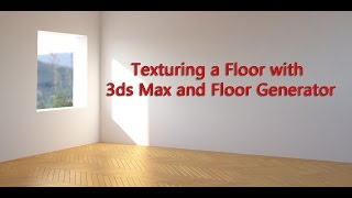 In this video we will see how we can apply a custom texture to geometry created with the help of the Floor Generator script. Also we will see how we can get rid of some of the issues that can come up when adding a custom texture.