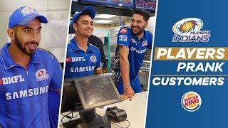 Yuvraj Singh & Others Prank Burger King Customers | Mumbai Indians
