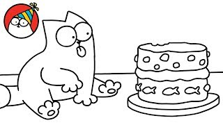 Purrthday Cake (A 10th Birthday Special) - Simon's Cat   BLACK & WHITE