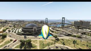 Trevor takes the blimp for a short spin around San Andreas in Grand Theft Auto V. I have heavily modded the graphics in GTA 5 ...