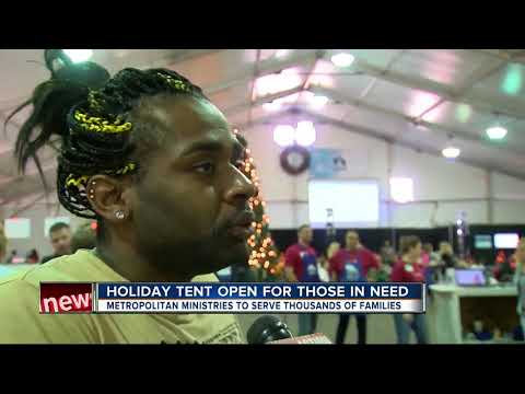 Holiday tent open for those in need