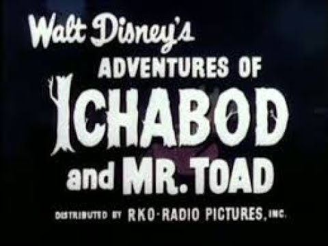 Disney's The Adventures Of Icabod And Mr. Toad (1949) Blu Ray DVD Unboxing