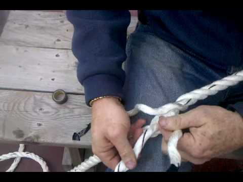 How to splice an eye in 3 braid line