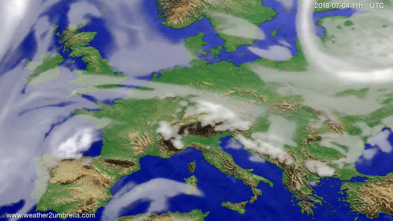 Cloud forecast Europe 2018-07-01