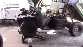 10. Changing the oil on my 2004 Polaris Ranger.