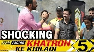 Video Ajaz Khan's Ugly PUBLIC FIGHT with Rohit Shetty Khatron ke Khiladi 5 20th April 2014 FULL EPISODE HD MP3, 3GP, MP4, WEBM, AVI, FLV Oktober 2017